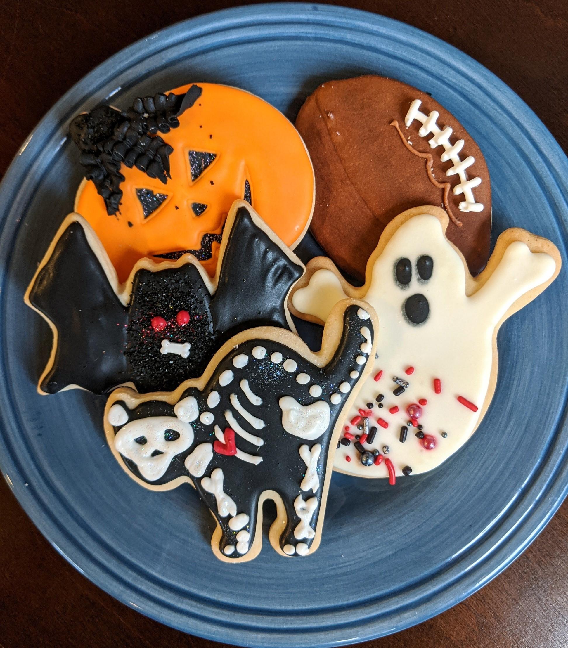 Halloween Cookies Plate 2020