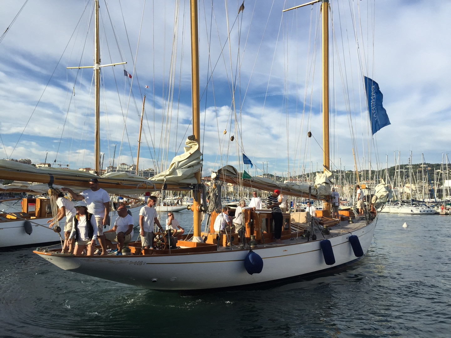 Racing in Le Regates Royales. Cannes, France.