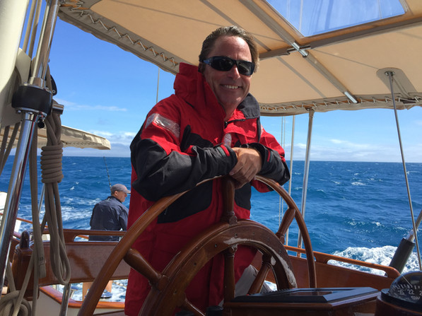 Sailing in Antigua on 102' Jongert
