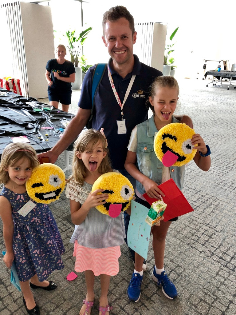 Working Dad & 3 daughters at CUB