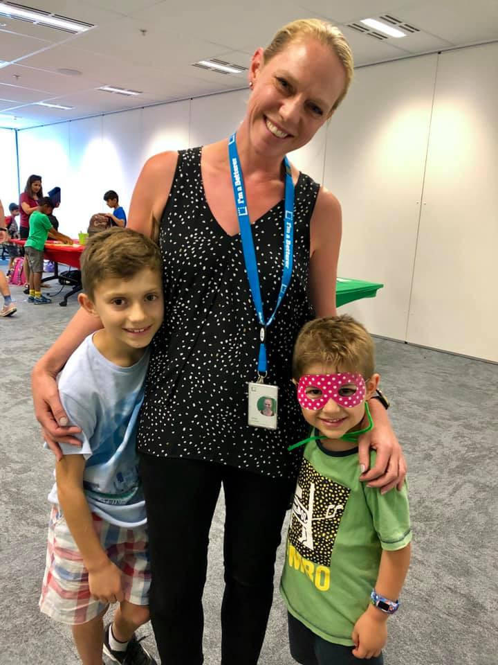 Mother & 2 sons at Latitude Financial
