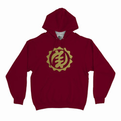 Hood African Symbol Burgundy