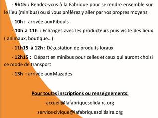 Visite de la Ferme des Pibouls le 7 septembre, venez nombreux