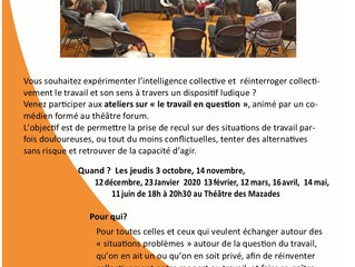 Participez aux ateliers de théâtre forum sur la question du travail