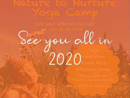 Nature to Nurture Yoga Camp 2019