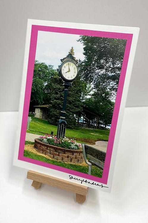 Clock Photo Card