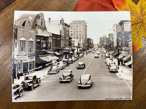 Historic Main Street Fond du Lac Postcard