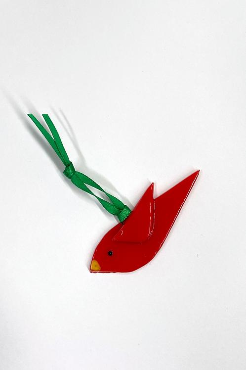 Tiny Red Bird Ornament