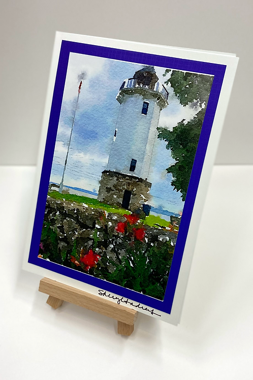 """""""Watercolor Lighthouse"""" Photo Card"""