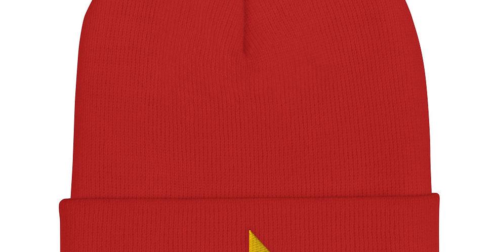 Red Cuffed Beanie - Element Fire