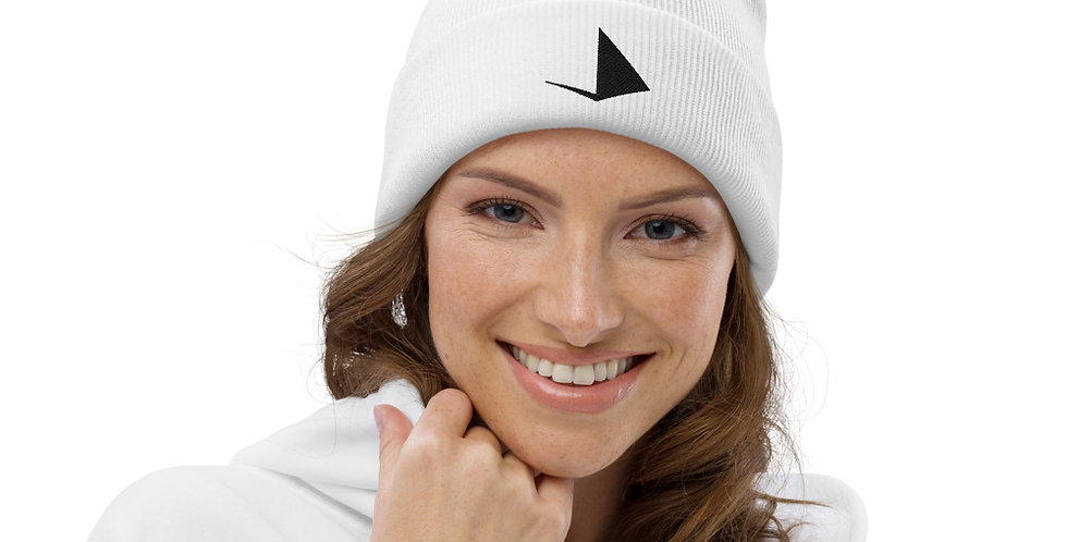 White Pom pom beanie - Element Metal