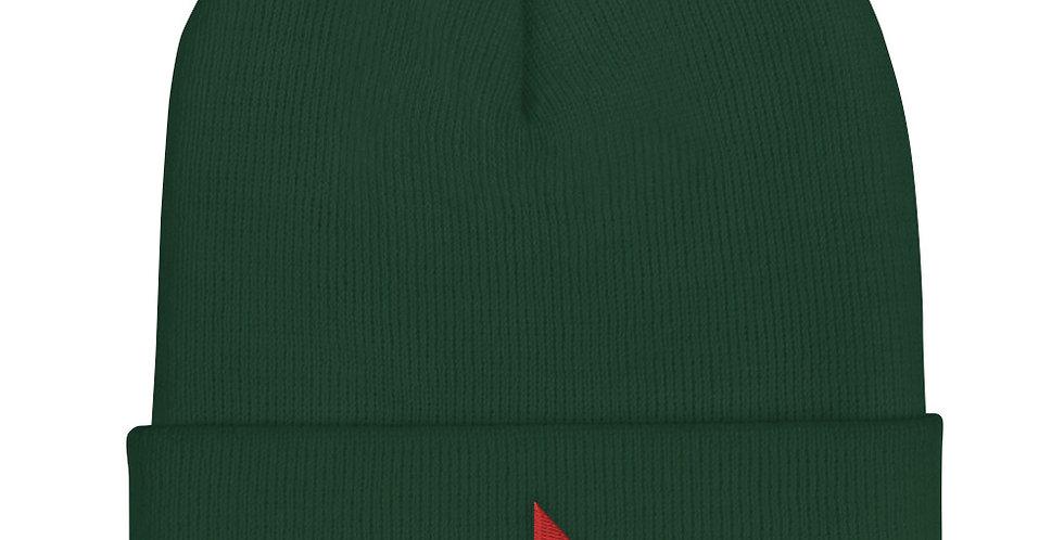Green Cuffed Beanie - Element Wood