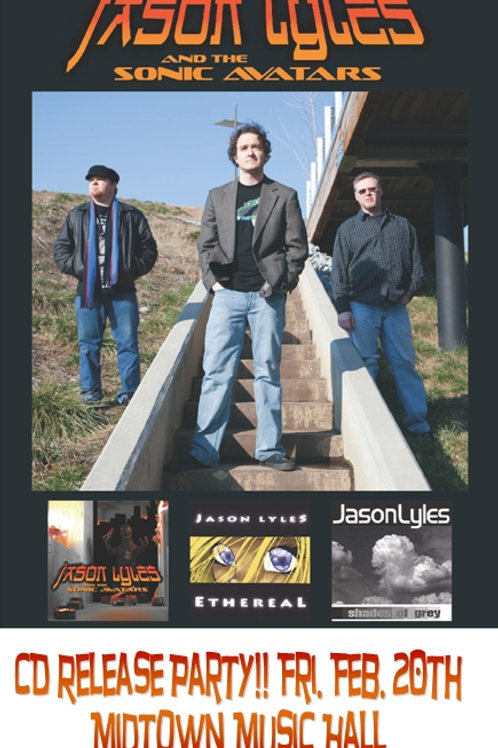 """Jason Lyles and the Sonic Avatars 18"""" Vintage Poster"""