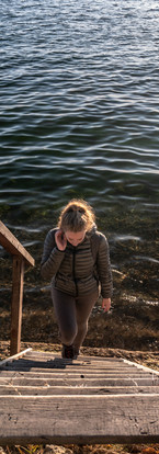 Le lac, la femme et le grand froid