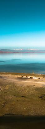 Steppes et lac
