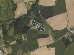 Vue aérienne du hameau