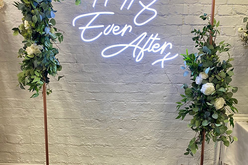 Copper wedding backdrop frame