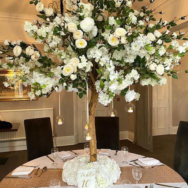 rose blossom tree, blossom tree hire, blossom tree wedding, blossom tree centrepieces,