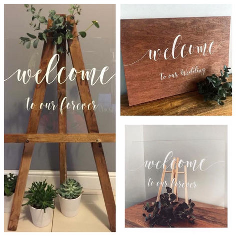 Welcome sign wedding