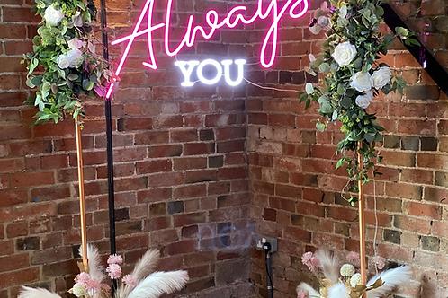 Copper wedding backdrop frame