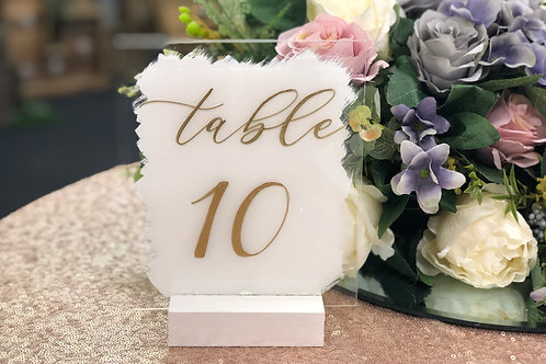 White paint effect table number