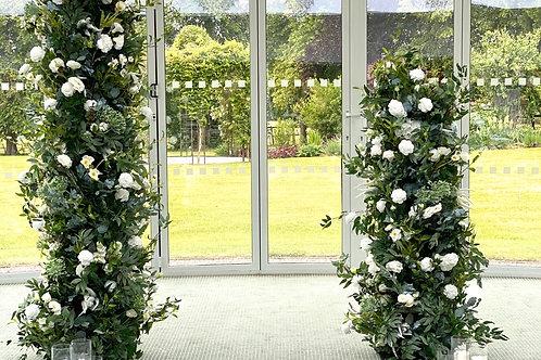 Evergreen floral columns
