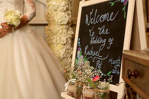 Personalised Welcome Chalk Board