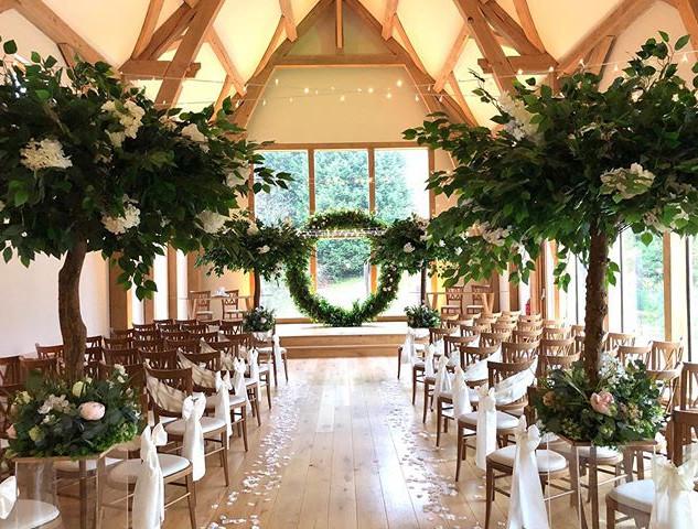 aisle style, greenery  blossom tree, blossom tree hire, blossom tree wedding, blossom tree centrepieces,