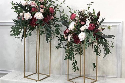 Blush and burgundy arrangement
