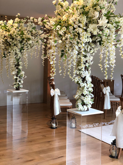 blossom tree hire, mill barns wedding, shropshire venue stylists, midlands wedding decorations, blossom tree aisle style, blossom tree hire, blossom tree wedding