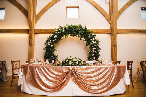 Rose Gold Sequin Top Table Tablecloth