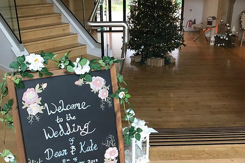 Personalised Rustic Welcome Chalk Board