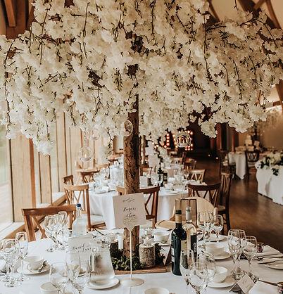 blossm tree, wedding blossom tree, blossom tree centrepiece, mill barns wedding