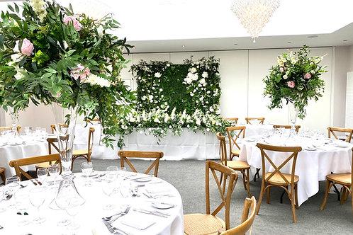 Evergreen flower wall