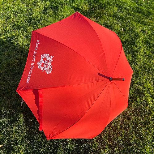 Eiche Schirm rot oder dunkelgrün mit Holzgriff