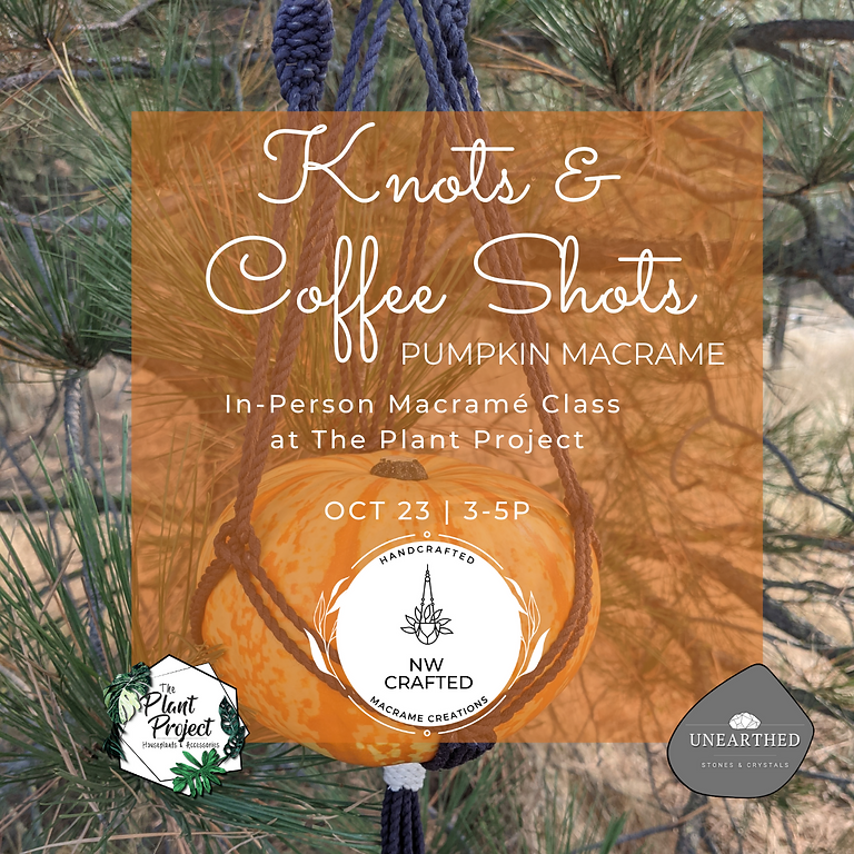 Knots & Coffee Shots - Pumpkin Macrame