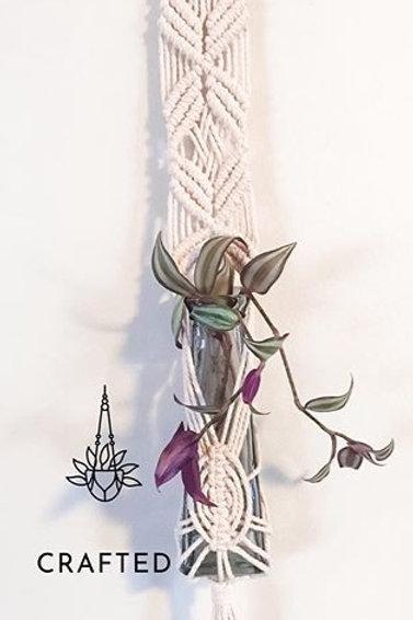 """Web"" Macrame Vase Hanger"