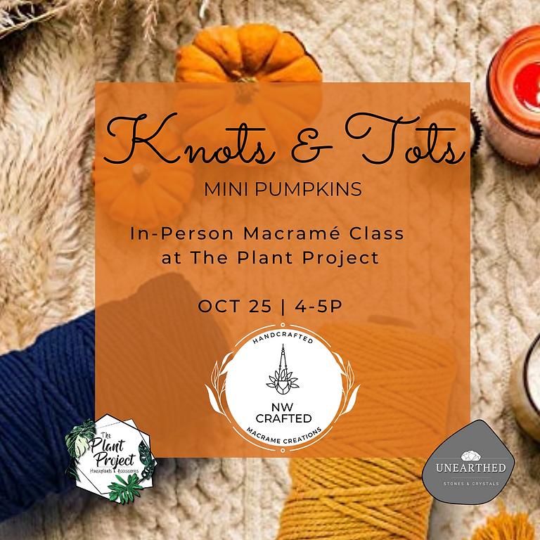 Knots & Tots: Mini-Pumpkin Macrame