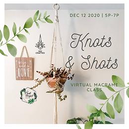 Virtual Knots & Shots: Macrame Plant Hanger