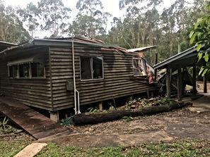 Tree Impact Damage To House