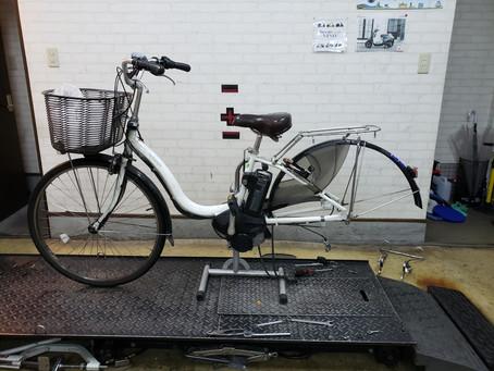 電動自転車 ヤマハPAS リアタイヤ、チューブ、インナーバンド交換!