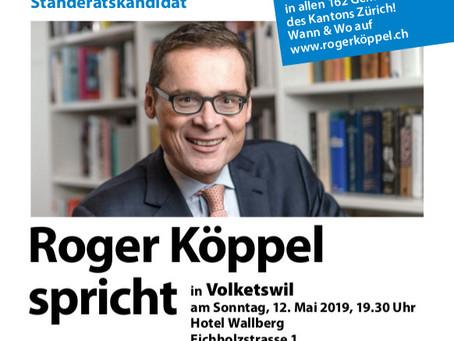 Roger Köppel spricht in Volketswil