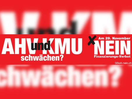 Schwächung der Schweizer Wirtschaft – NEIN zur Kriegsmaterialinitiative
