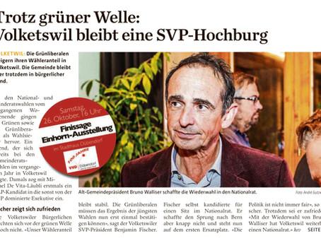 Trotz grüner Welle: Volketswil  bleibt eine SVP-Hochburg