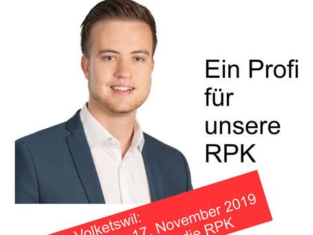 Pascal Bertschinger in die RPK Volketswil (17. November 2019)