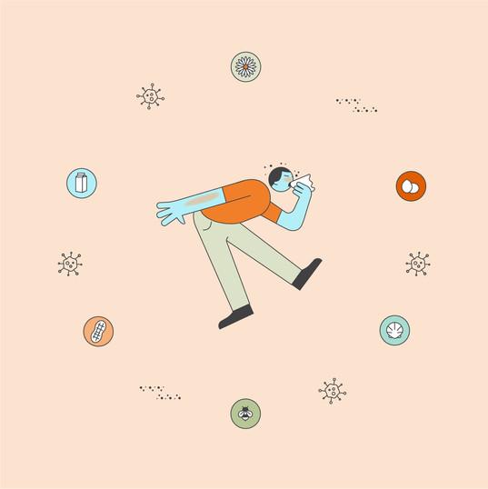 Healthcare Illustration: Allergies