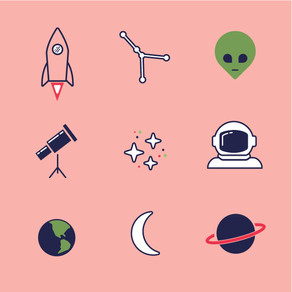 VECTOR ICON SET - Space