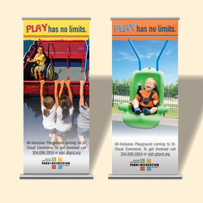 ENVIRONMENTAL DESIGN - GHPRD Inclusive Playground Retractable Banners