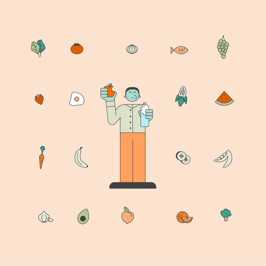 Healthcare Illustration: Clean Eating