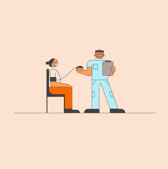 Healthcare Illustration: Blood Pressure